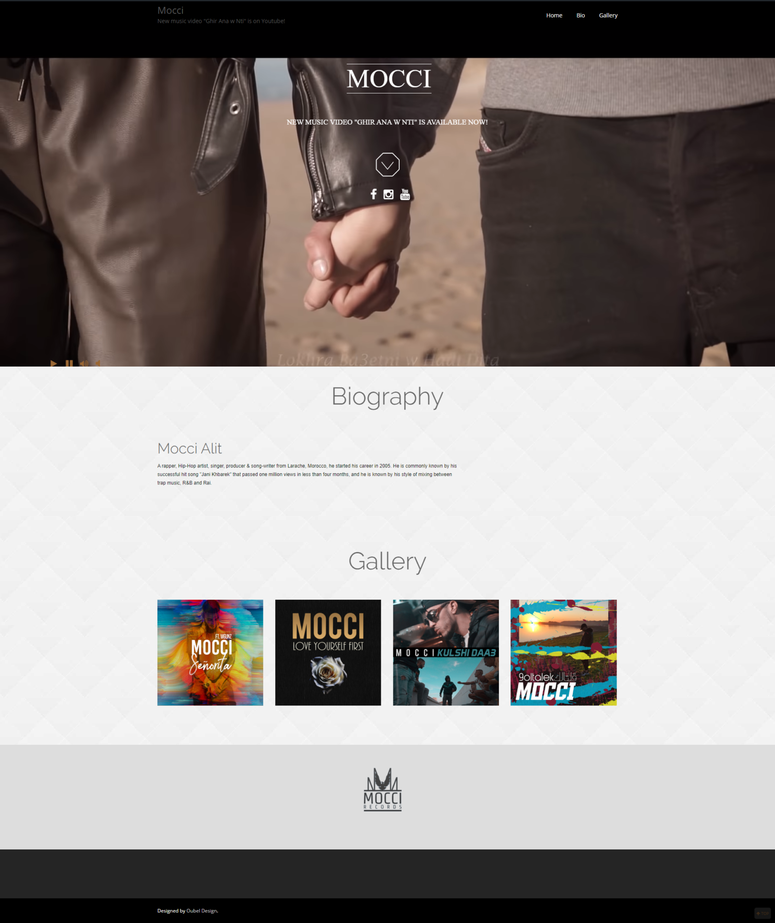 Mocci - Official Website (Version 1)