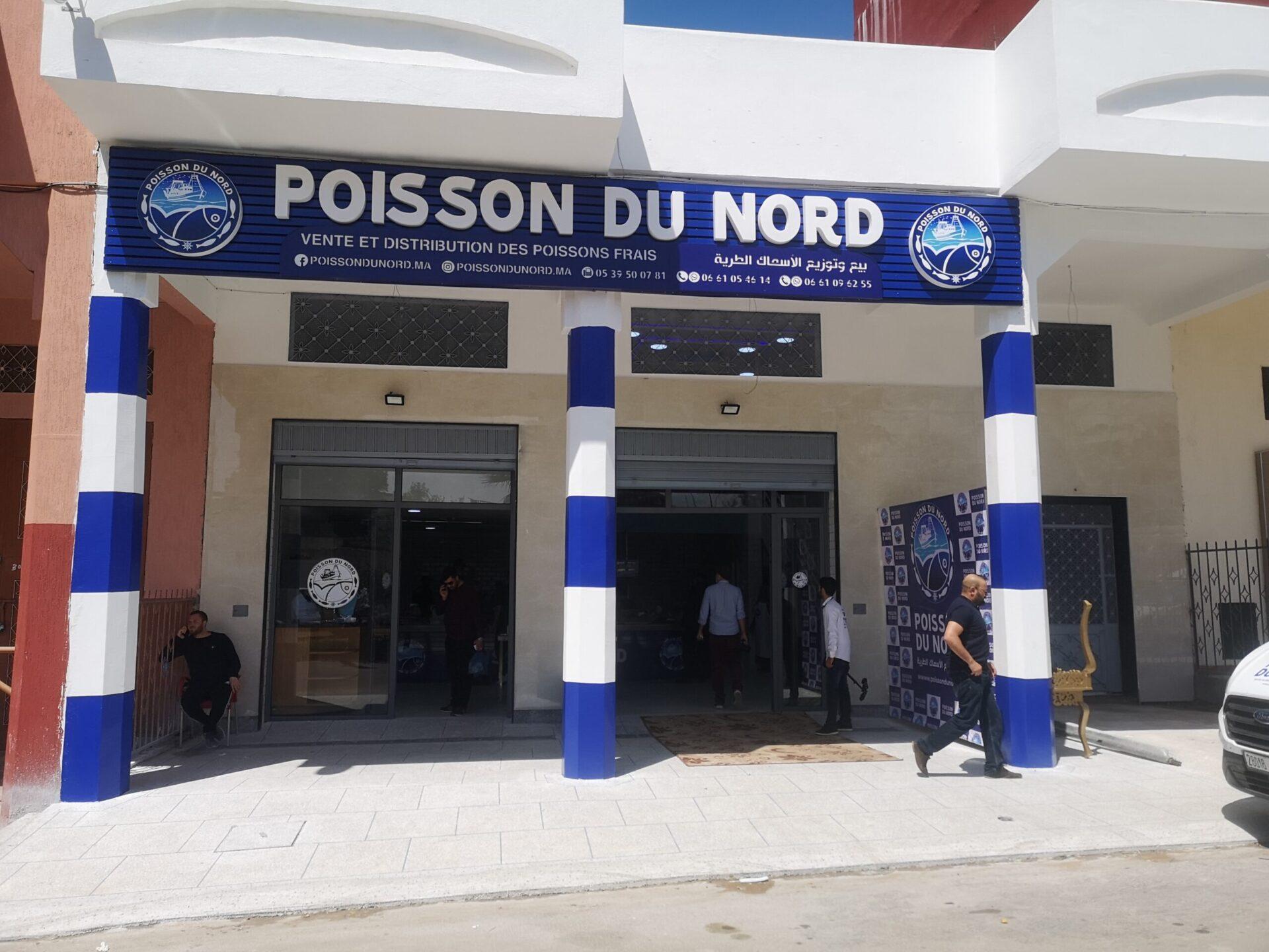 Enseigne publicitaire Poisson Du Nord Larache Oubel Design 6
